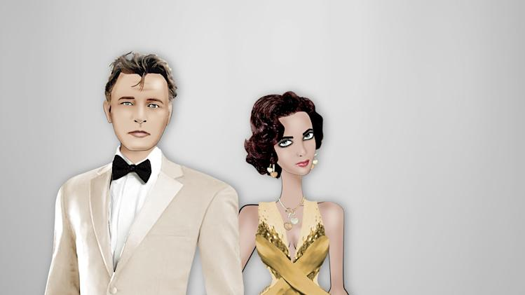 "This computer-generated image released by Armani shows animated images in the likeness of actors Richard Burton, left, and Elizabeth Taylor, in a gold Armani gown. There will be more gold to come this week at Thursday's amfAR gala, at the Cannes Film Festival which will showcase 40 of the world's top models in ""The Ultimate Gold Collection Fashion Show,"" curated by Carine Roitfeld. (AP Photo/Armani, Lula)"