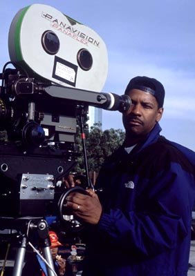 Director Denzel Washington on the set of Fox Searchlight's Antwone Fisher