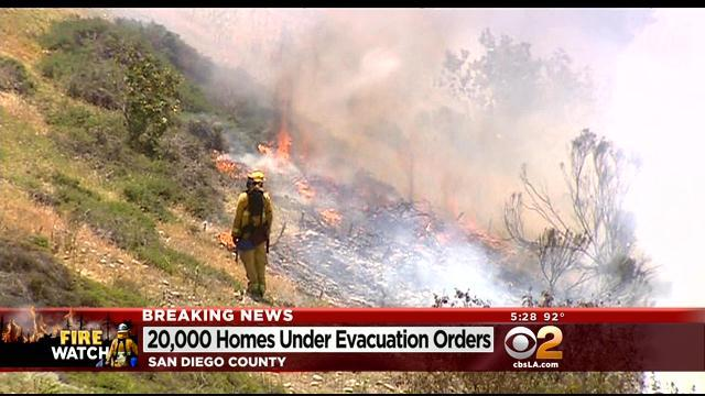 Wildfire Forces 20K Evacuations Near San Diego