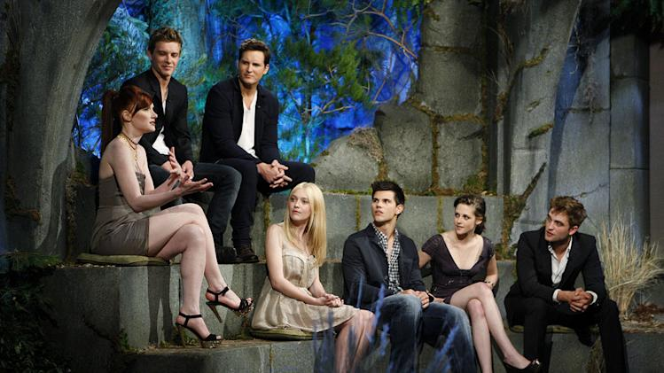 """The Twilight Saga"" stars on ""Jimmy Kimmel Live's Twilight Saga: Total Eclipse of the Heart."""