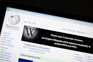 The online encyclopedia Wikipedia is viewed in January 2012 during a protest blackout. Popular online knowledge trove Wikipedia was back online Monday after a fiber optic cable connection between its two US data centers was severed, causing an hour-long service outage