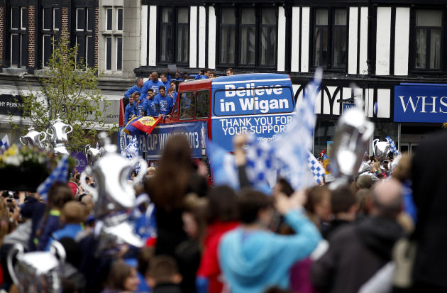 Soccer - Barclays Premier League - Wigan Athletic FA Cup Trophy Parade