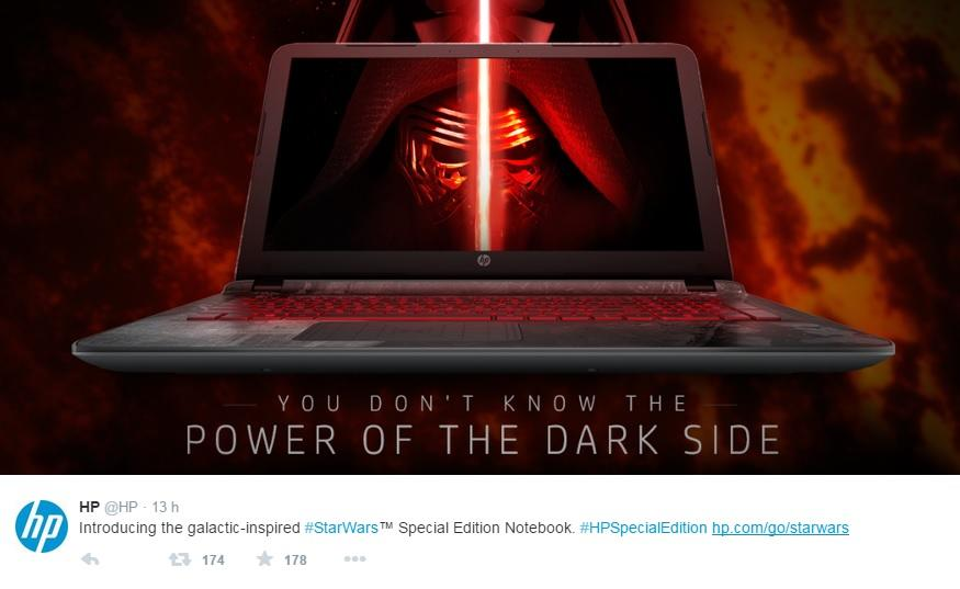 New Star Wars-themed notebook from HP comes with lightsaber sounds