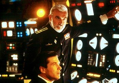 Sean Connery and Alec Baldwin in Paramount's The Hunt For Red October