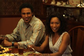 Rick Fox and Angela Bassett in Lionsgate Films' Tyler Perry's Meet the Browns