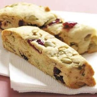Pumpkin Seed Cranberry Biscotti Recipe photo by Taste of Home