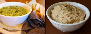 spinach artichoke dip vs. hummus