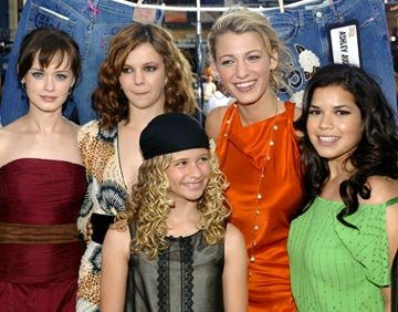 Premiere: Alexis Bledel, Amber Tamblyn, Blake Livley, America Ferrera and Jenna Boyd at the Hollywood premiere of Warner Bros. Pictures' The Sisterhood of the Traveling Pants - 5/21/2005