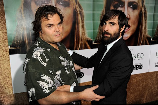 Jack Black and Jason Schwartzman arrive at the premiere of HBO's &quot;Enlightened&amp;quot at Paramount Theater on October 6, 2011 in Hollywood, California. 