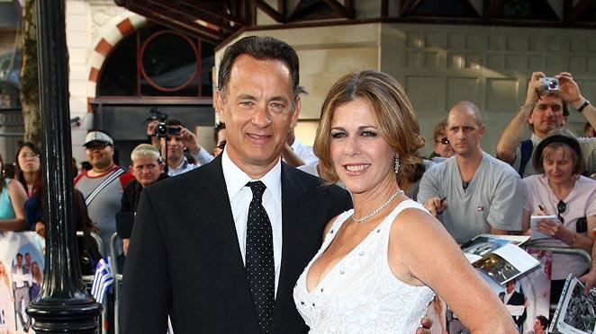 Mamma Mia Premiere UK 2008 Tom Hanks Rita Wilson