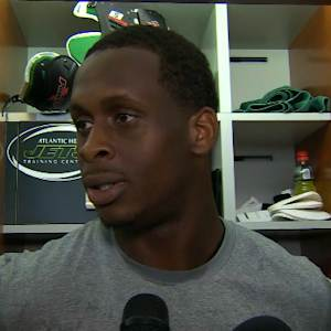 New York Jets quarterback Geno Smith responds to questions about Michael Vick