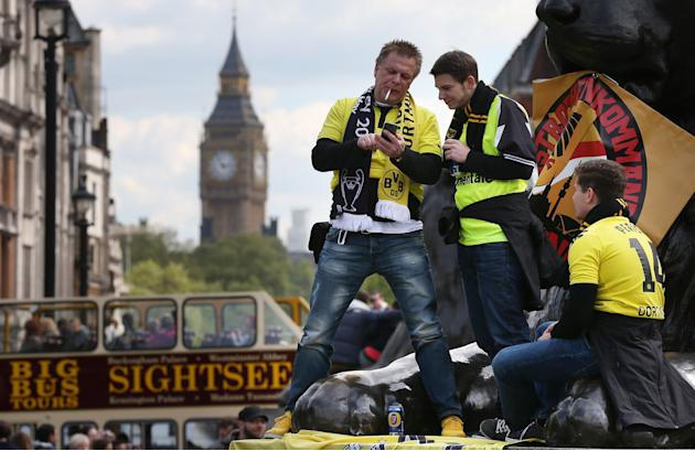 Football Fans In London For The All German UEFA Champions League Final