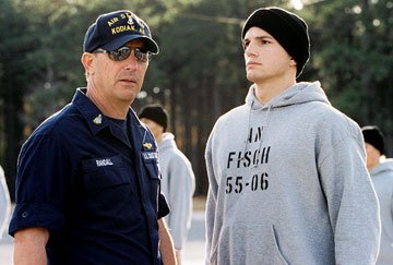 Kevin Costner and Ashton Kutcher in Touchstone Pictures' The Guardian