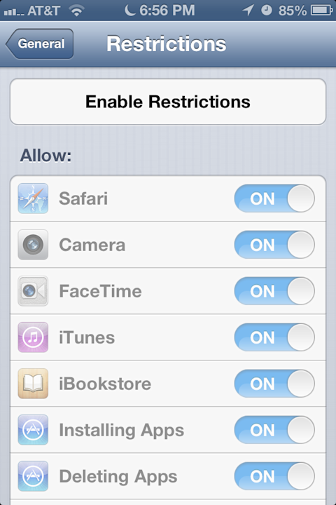 Set Restrictions