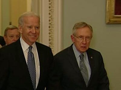 Raw: Biden at Capitol Before 'Cliff' Deadline