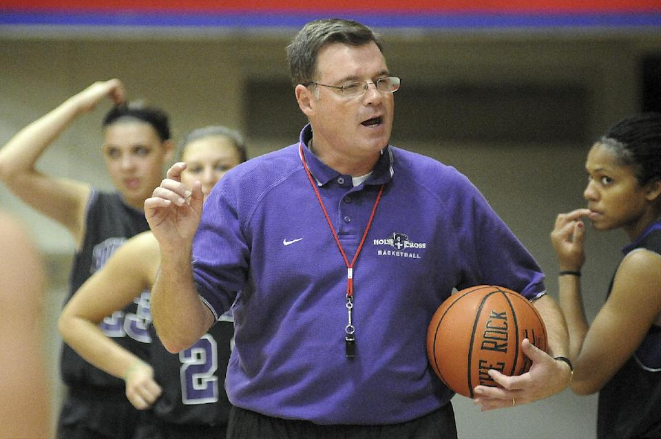 Former players defend Holy Cross women's coach