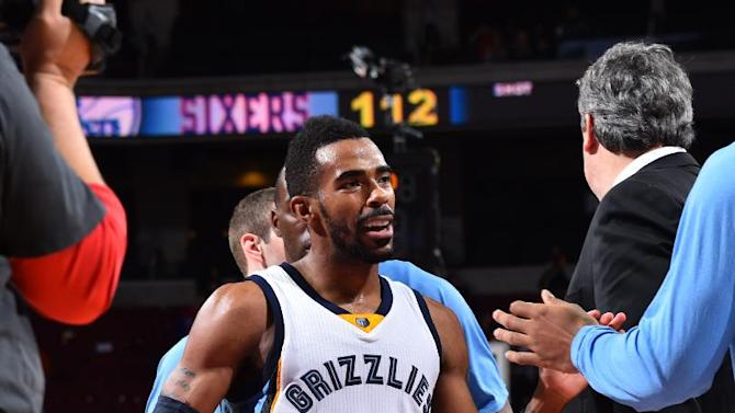 Conley's 36 lead Grizzlies past 76ers in overtime