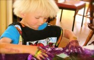 Finger Painting Toddler