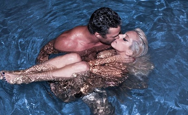Lady Gaga with her boyfriend