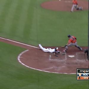Paredes steals home