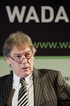 David Howman, from New Zealand, Director General of the World Anti-Doping Agency, WADA, speaks during a WADA Media Symposium in Lausanne, Switzerland, Tuesday, Feb. 7, 2012. (AP Photo/ Keystone Jean-Christophe Bott)