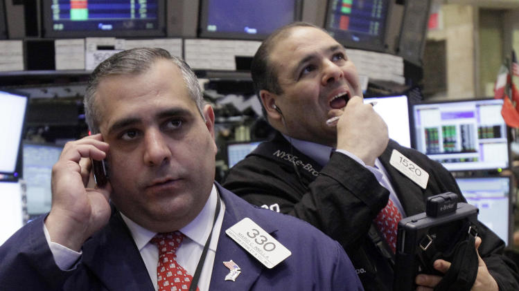 Dow average closes within 50 points of 13,000