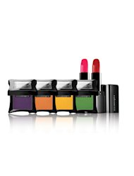 Bright, bold colours for eye shadows and lipsticks