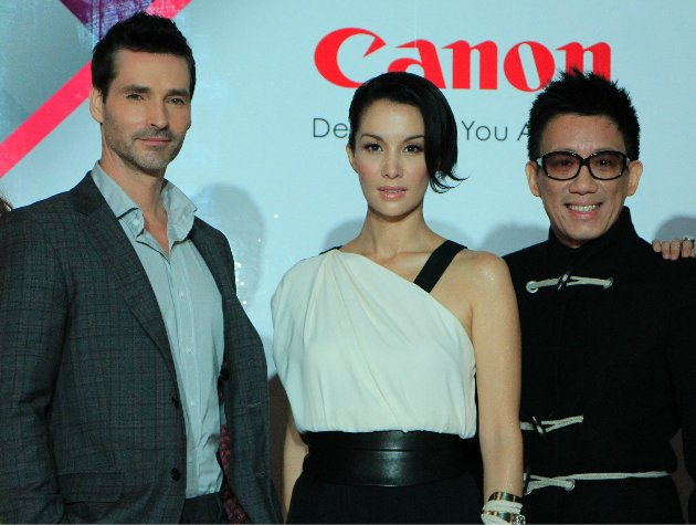 From left to right: Todd Anthony Tyler, Nadya Hutagalung, Daniel Boey. (Yahoo! photo/ Deborah Choo)