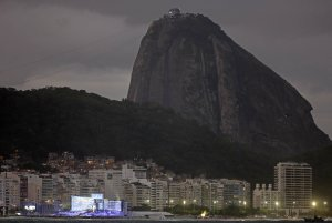 Backdropped by Sugar Loaf mountain, the World Youth…