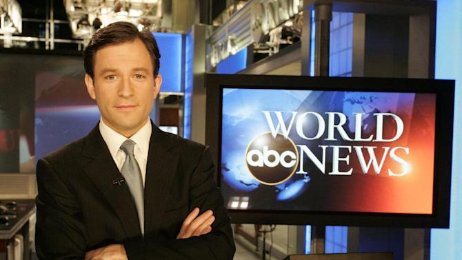 """FILE - In this publicity image released by ABC, ABC News anchor Dan Harris, is shown. ABC News says Harris is replacing Bill Weir as a co-anchor of """"Nightline,"""" effective immediately. Harris will remain on the weekend edition of """"Good Morning America,"""" which he has co-anchored since 2010. (AP Photo/ABC, Lou Rocco) NO SALES"""