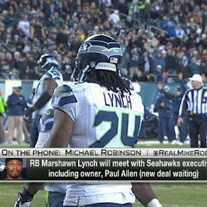 Michael Robinson on Seattle Seahawks running back Marshawn Lynch meeting with Seattle Seahawks executives: 'It's always a good thing'