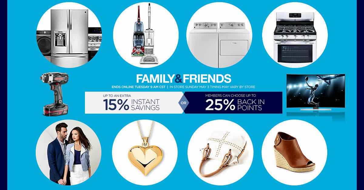 Shop the Sears® Family & Friends Sale Now!