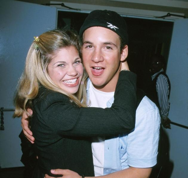 'Boy Meets World' stars Danielle Fishel and Ben Savage seen in April 1999 -- Getty Premium