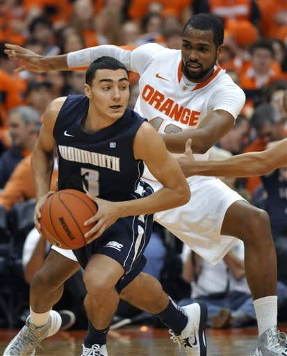 No. 4 Syracuse beats Monmouth 108-56