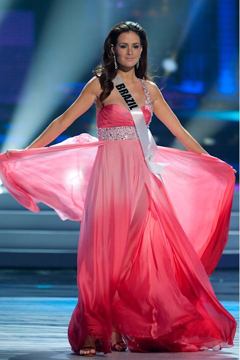 Miss Brazil 2011, Priscila Machado competes in her choice evening gown, as one of the top 10 contestants, during the &quot;60th Annual Miss Universe&quot; presentation show from So Paulo, Brazil. 