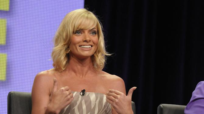 """Actress Jaime Pressly speaks during a panel at the The Television Critics Association 2011 Summer Press Tour in Beverly Hills, Calif. on Friday, Aug. 5, 2011. Pressly stars in the television series """"I Hate My Teenage Daughter"""" on FOX. (AP Photo/Dan Steinberg)"""
