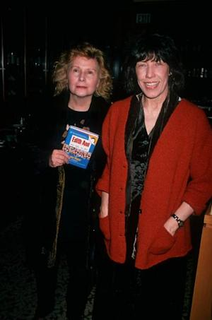 Lily Tomlin and writer Jane Wagner attending 'In-Store Appearance Signing 'Edith Ann-My Life So Far' on October 23, 1994 at Booksoup in West Hollywood -- Getty Images