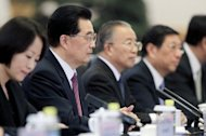 &lt;p&gt;Chinese President Hu Jintao (2nd L) at a welcoming ceremony for the attendees of the fifth ministerial meeting of the Forum on China-Africa Cooperation in Beijing on July 18. Hu said China would offer $20 billion in new loans to Africa, underscoring the Asian powerhouse&#39;s growing links with the resource-rich continent.&lt;/p&gt;