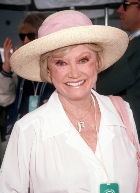 Phyllis Diller during 3rd Annual Nancy Reagan Tennis Tournament at Rivieria Country Club in Palisades, Calif., on October 5, 1991 -- WireImage
