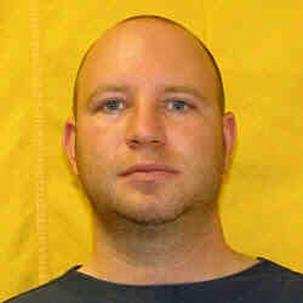 This undated photo released by the Ohio Department of Rehabilitation and Correction shows Thomas J. Fritz, 38, of Sylvania, Ohio, who served a one-year sentence on a 2007 third-degree criminal sexual conduct conviction. Michigan State Police say Fritz is a suspect in the fatal shooting of Lisa Gritzmaker, 24, and Amy Merrill, 34, and the wounding of the women's mother at Merrill's home in Blissfield, Mich., on Friday, July 13, 2012. Michigan State Police say Fritz is a fugitive and wanted for questioning in the shootings. They say he's considered armed and dangerous. (AP Photo/Ohio Department of Rehabilitation and Correction)