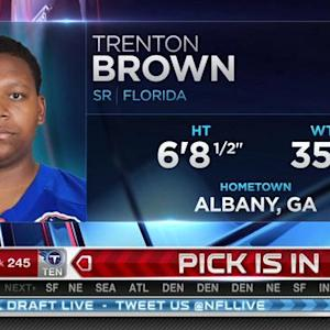 San Francisco 49ers pick tackle Trenton Brown No. 244 in 2015 NFL Draft