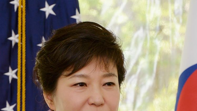 South Korean President Park Attends Luncheon In Los Angeles
