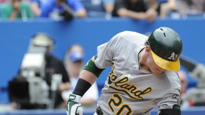 Callaspo hits go-ahead double, A's beat Blue Jays