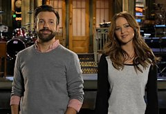 Jason Sudeikis, Jennifer Lawrence | Photo Credits: NBC