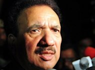 Pakistan's then-interior minister Rehman Malik talks to press in Karachi in May 2011. Malik, a close aide to President Asif Ali Zardari, resigned from parliament on Tuesday amid a controversy about his dual nationality. The Supreme Court suspended Malik's membership of the upper house of parliament, the senate, on June 4 for allegedly running for office while still holding British citizenship