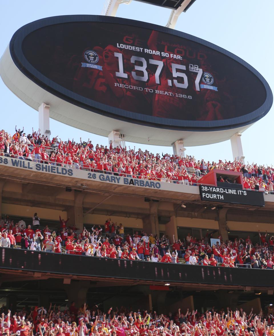 Arrowhead Stadium breaks record for noise level