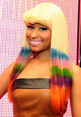 nicki minaj rainbow hair