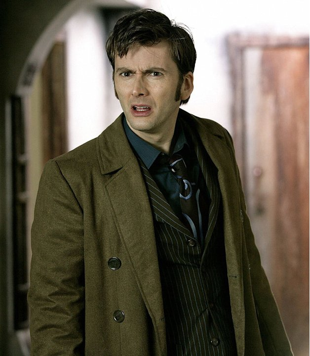 David Tennant as The Doctor in Doctor Who on the Sci Fi Channel.