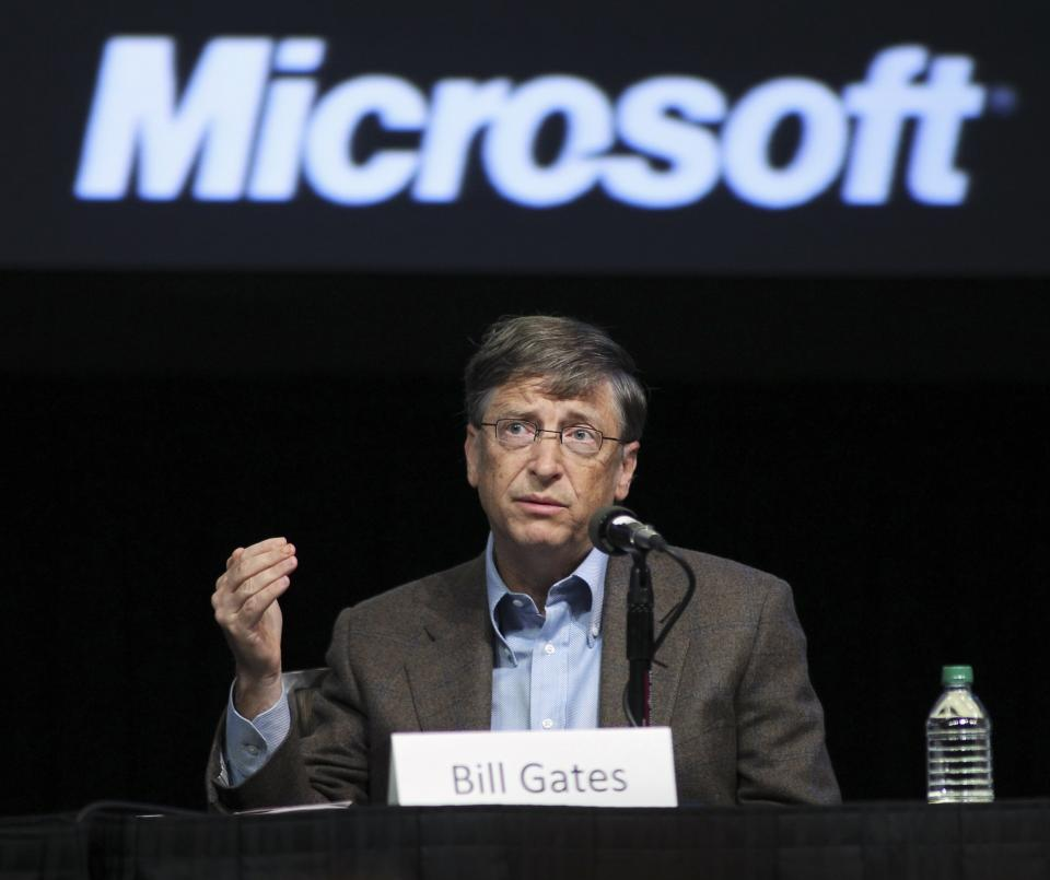 File photo of Microsoft Chairman Bill Gates during Microsoft's annual shareholder meeting at Meydenbauer Center in Bellevue