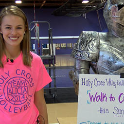Holy Cross' Swearingen is a Crusader for Diabetes Awareness